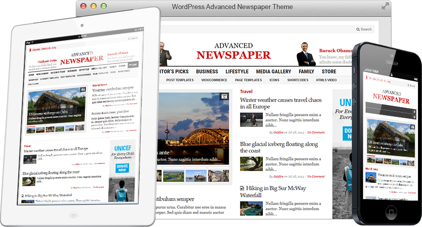 WordPress One Pager Theme